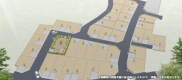 第二期販売開始 グランドガーデンヒル船橋。敷地49坪以上、全37宅が集まる大規模開発分譲地。