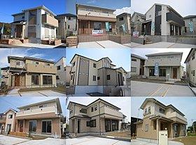 ◆ 外構施工例。たっぷり駐車場プランや広々庭付プランなど。
