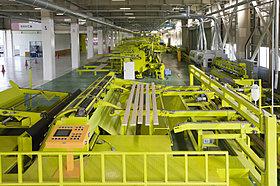 グループ会社の工場で構造材を安心生産