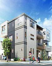 都市の洗練と自然の潤いが調和する表情豊かな全3邸の街並み。