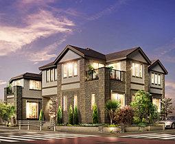 全邸2階建てのリゾートスタイルの街並み。