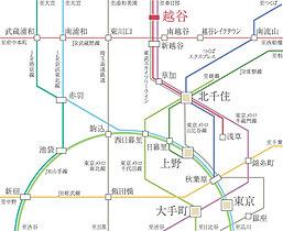 東武スカイツリーライン利用で、都心へ快適アクセス。
