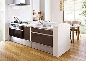 食器洗い乾燥機付きのシステムキッチン