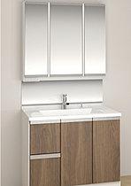 3面鏡と豊富な収納力の洗面ドレッシング