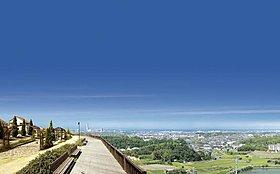 海と空を見渡す「7号公園」からの眺望