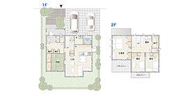 居住空間の各所に暮らしに便利な収納スペースを設けたプラン