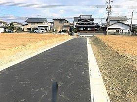前面道路拡張中 6m道路になります