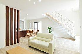現在公開中モデルハウスのリビング