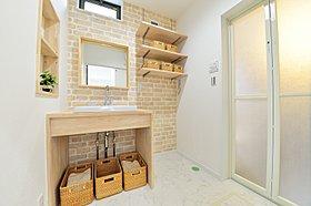 現在公開中モデルハウスの洗面所