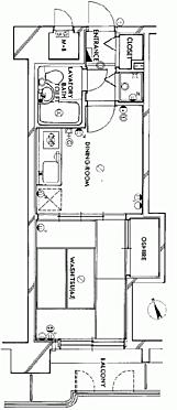 マンション(建物一部)-郡山市赤木町 間取り