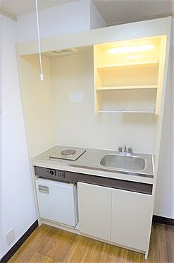アパート-野田市山崎 キッチンはミニ冷蔵庫付きで単身者にオススメ