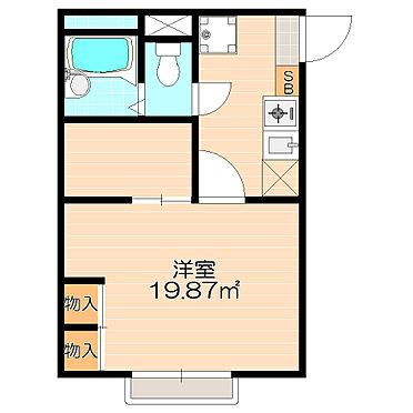 アパート-大垣市南若森4丁目 単身者向けには最適な広めの洋室と収納