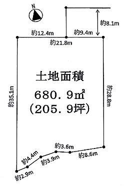 土地-品川区上大崎3丁目 区画図