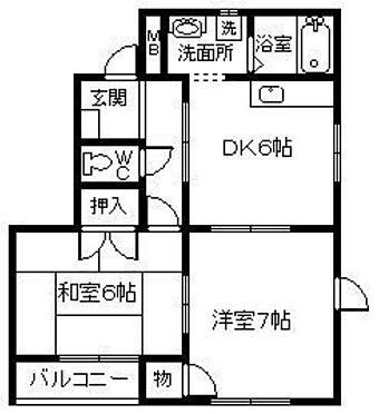アパート-下関市長府松小田北町 間取り