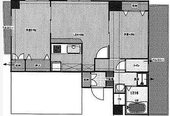 マンション(建物全部)-福岡市博多区美野島1丁目 間取り
