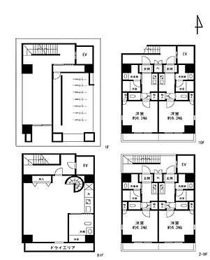 マンション(建物全部)-目黒区青葉台3丁目 間取図