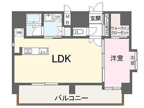 マンション(建物全部)-福岡市博多区下川端町 最上階 1LDK