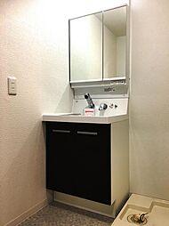 洗面から洗髪、メイクまで出来る便利なシャワー付き洗面化粧台です。