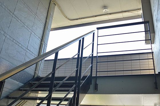 アパート-大垣市南若森4丁目 手摺りが有り昇降しやすい共用階段