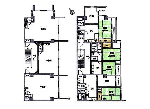 マンション(建物全部)-岡山市南区福富西1丁目 間取り