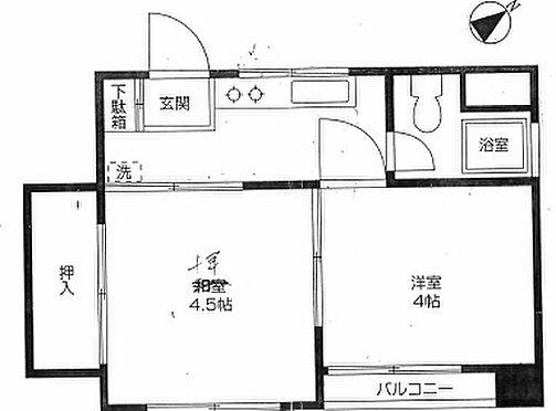 マンション(建物一部)-中野区東中野5丁目 間取り
