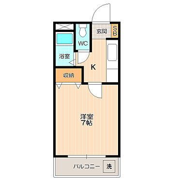 マンション(建物全部)-岐阜市日野南7丁目 全室南向きが嬉しい。単身者向けの使い勝手がいい間取り