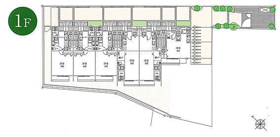 アパート-新宿区若葉1丁目 1階間取り図です。