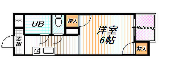 マンション(建物全部)-京都市西京区山田車塚町 部屋の間取りです。セパレートがこの物件の良いところです.他の間取りパターンあります。