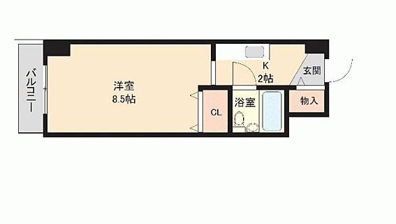 マンション(建物一部)-札幌市豊平区中の島一条10丁目 間取り