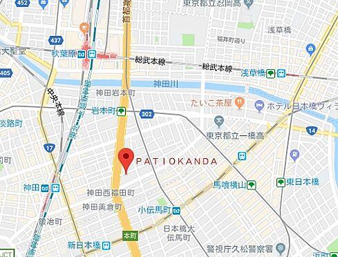 マンション(建物一部)-千代田区岩本町2丁目 地図