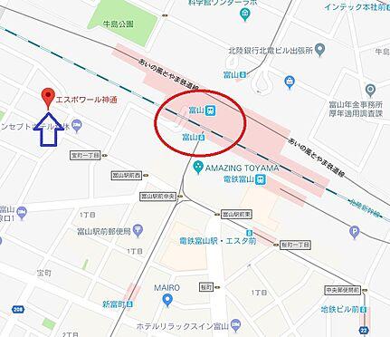 マンション(建物一部)-富山市神通本町1丁目 地図