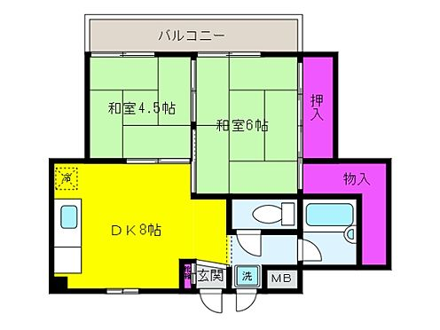 マンション(建物全部)-神戸市東灘区魚崎北町6丁目 間取り