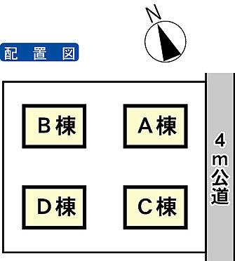 アパート-土浦市真鍋2丁目 配置図