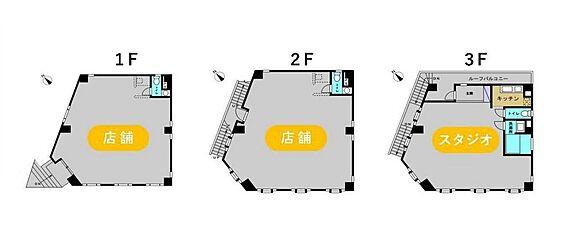 店舗事務所(建物全部)-渋谷区神宮前3丁目 間取り