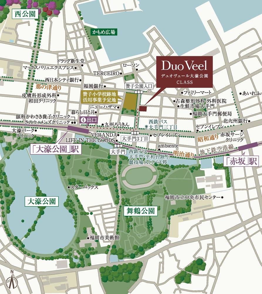 デュオヴェール大濠公園CLASS:案内図