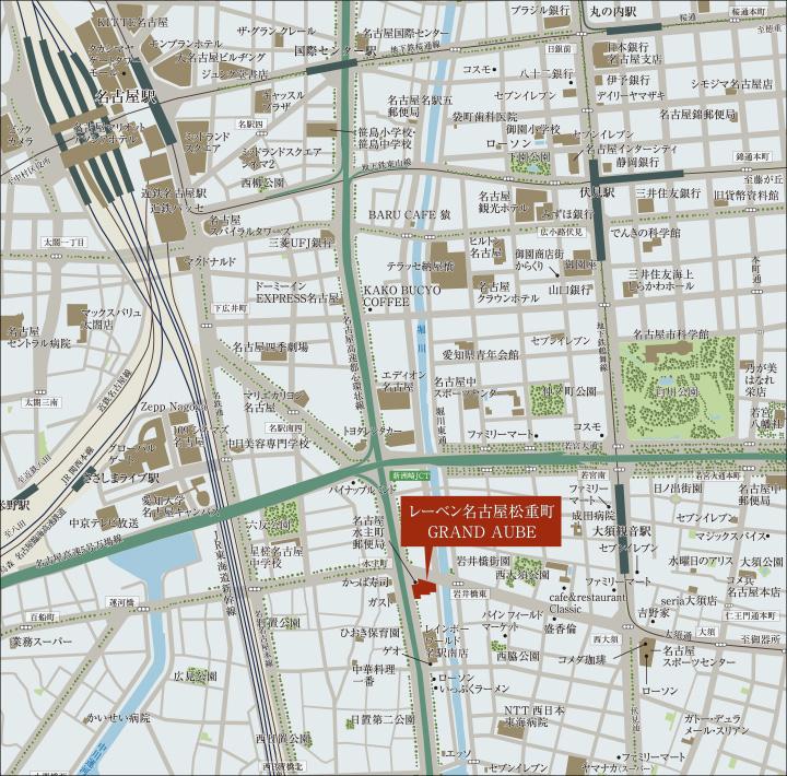 レーベン名古屋松重町GRAND AUBE:案内図