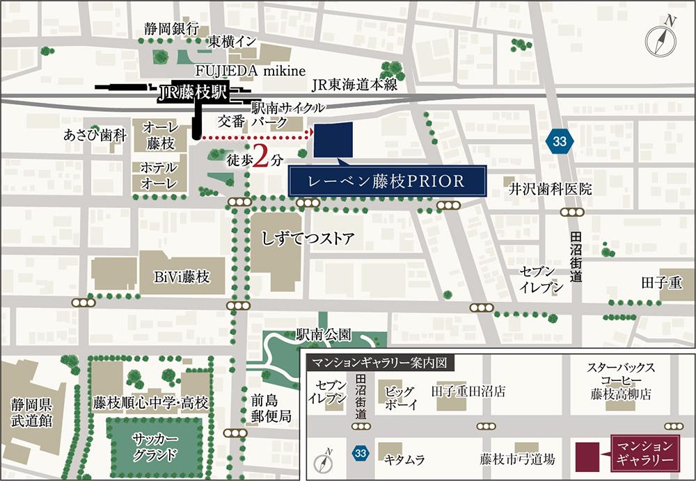 レーベン藤枝PRIOR:モデルルーム地図