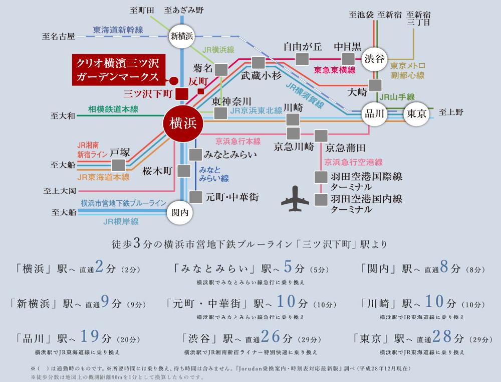 クリオ横濱三ツ沢ガーデンマークス:交通図