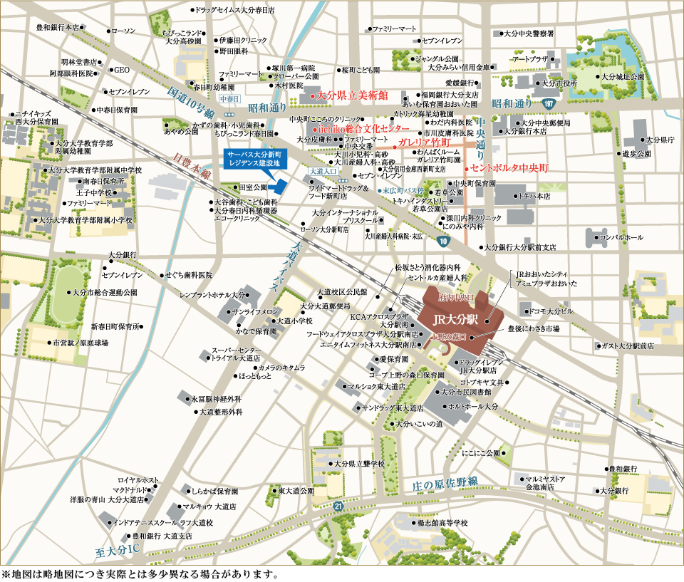 サーパス大分新町レジデンス:案内図