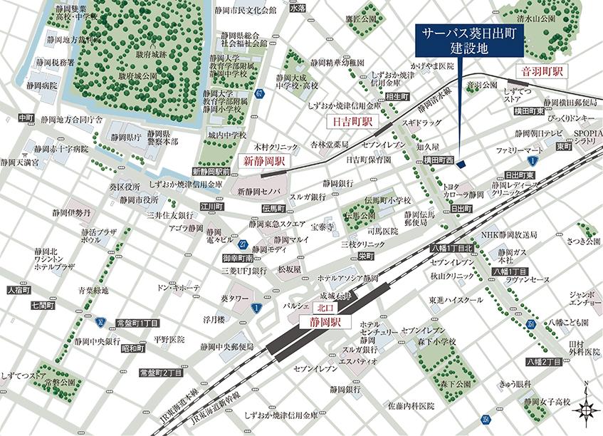 サーパス葵日出町:案内図