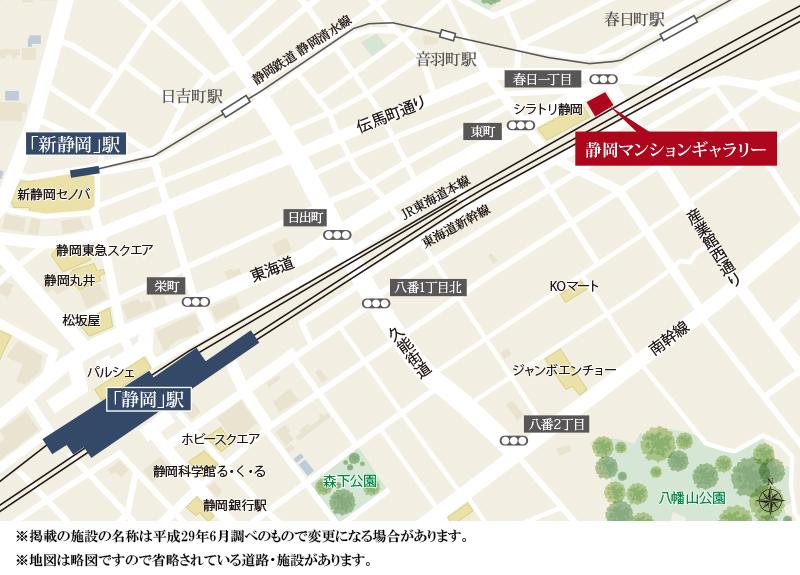 プレミスト愛宕の杜:モデルルーム地図
