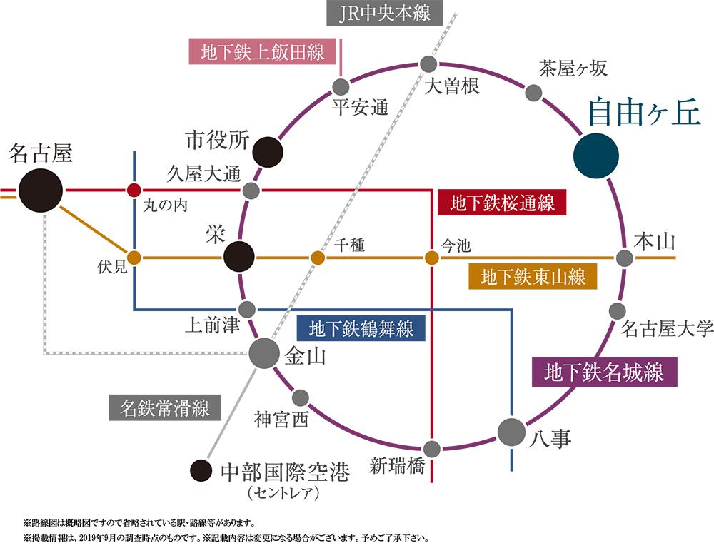 プレミスト富士見台:交通図