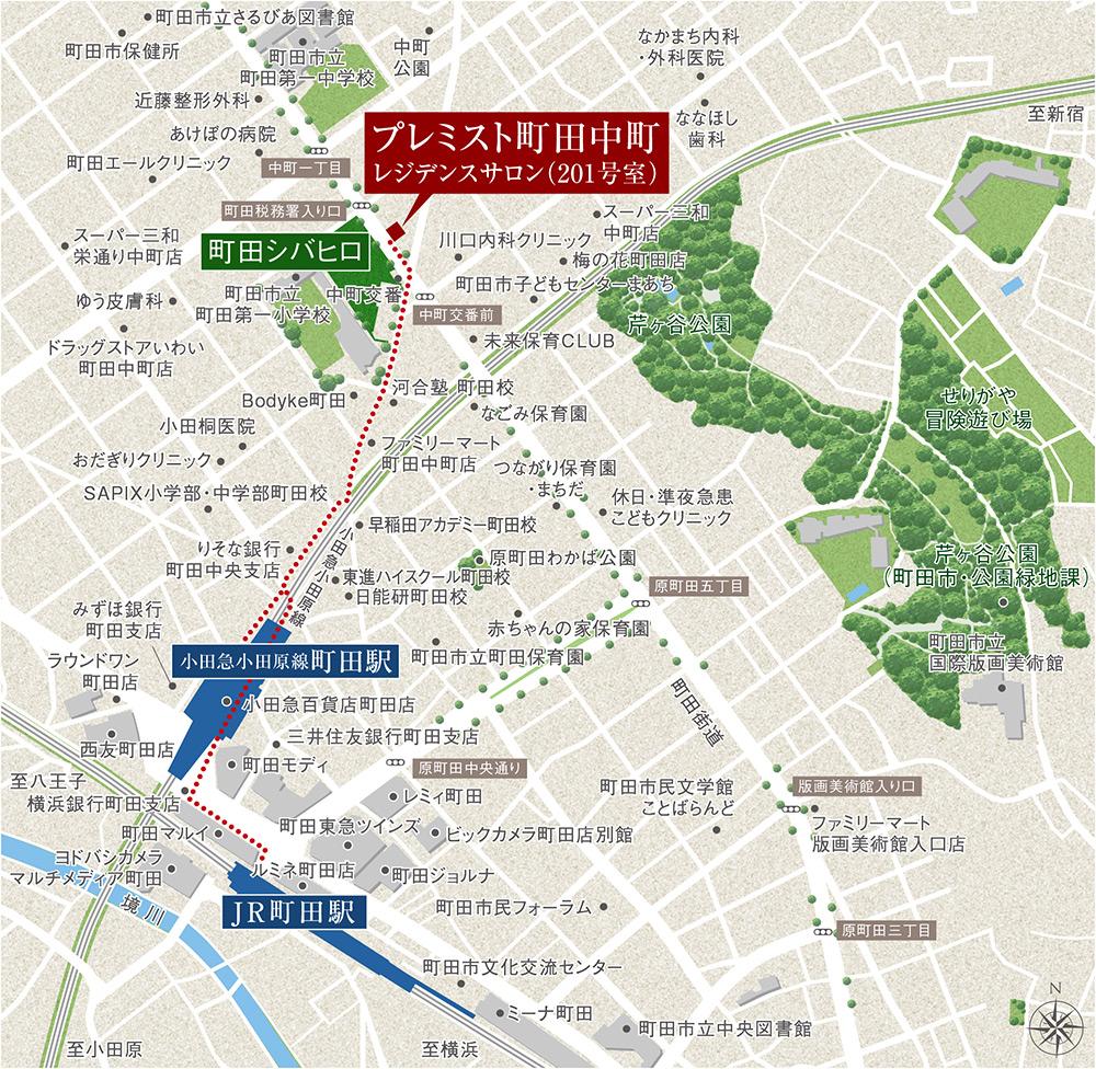 プレミスト町田中町:案内図