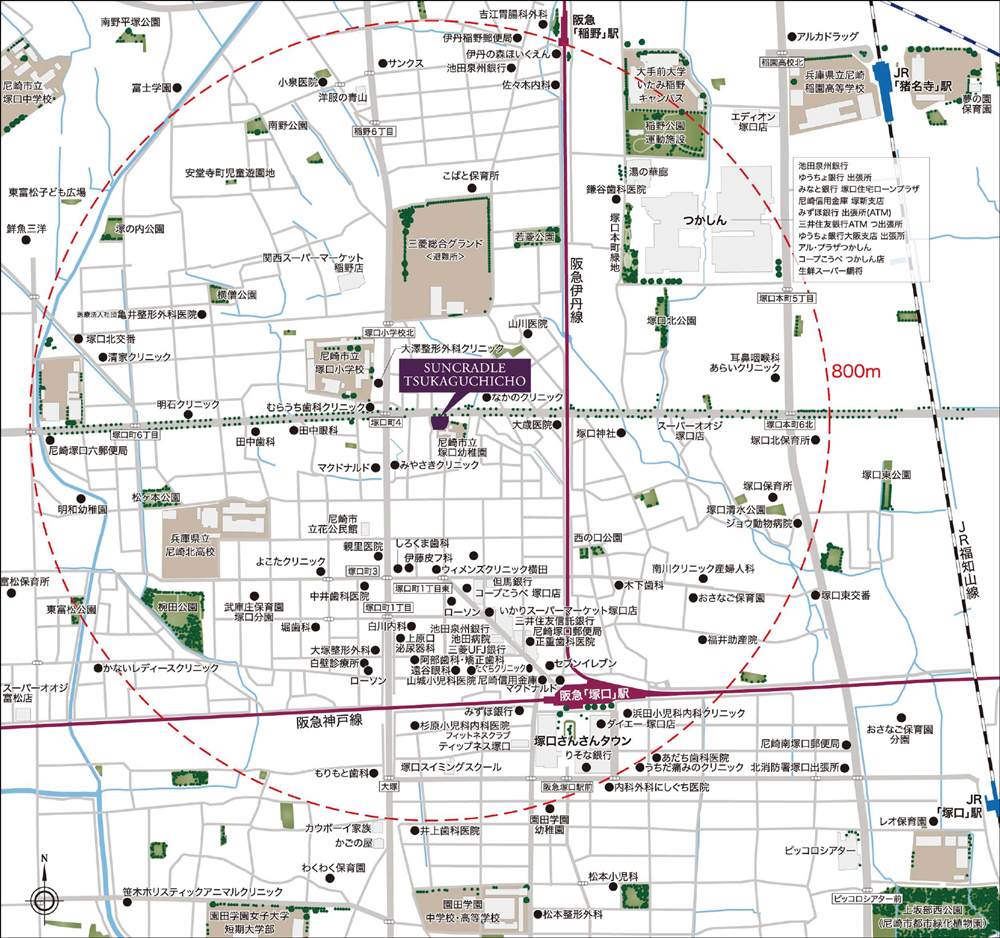 サンクレイドル塚口町:案内図