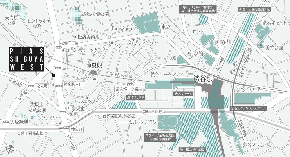 ピアース渋谷WEST:案内図