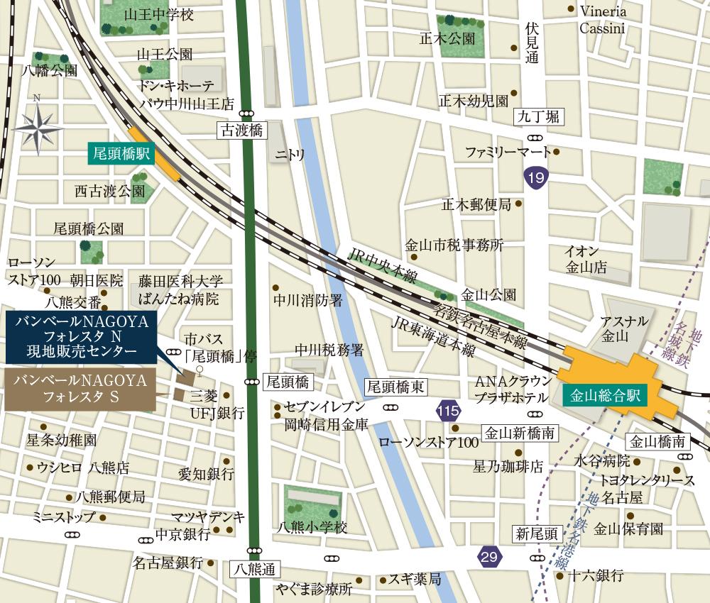 バンベールNAGOYAフォレスタ N/S:案内図