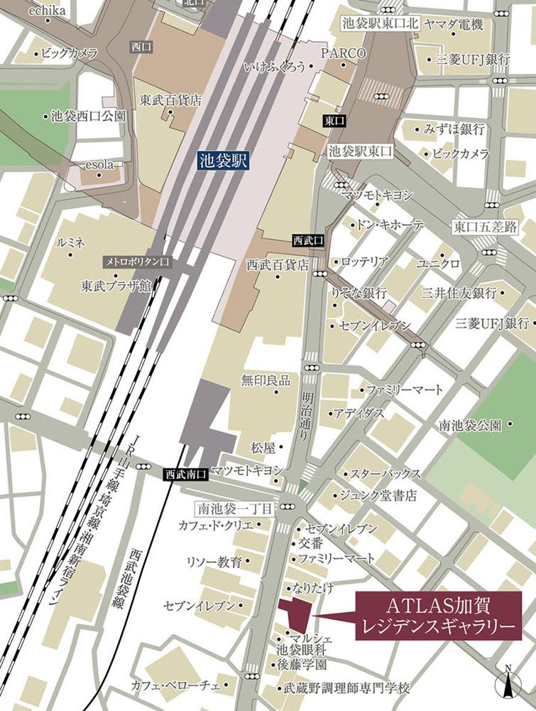 アトラス加賀:モデルルーム地図