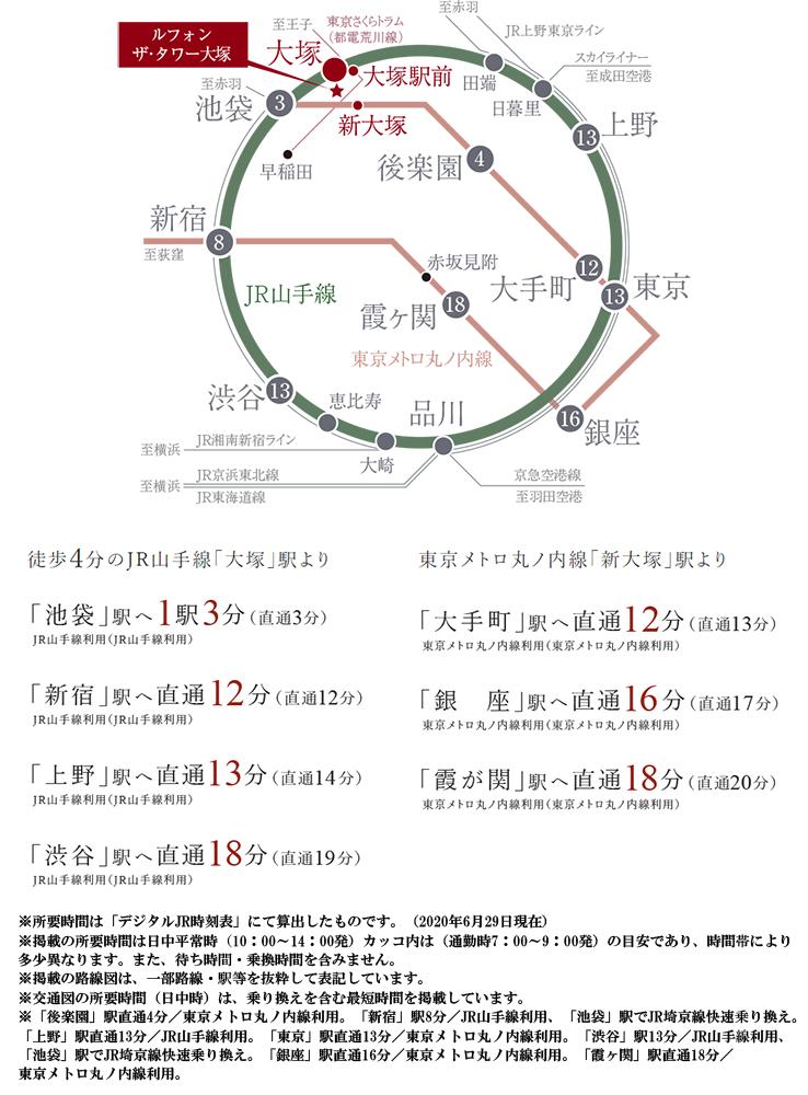 ルフォン ザ・タワー大塚:交通図