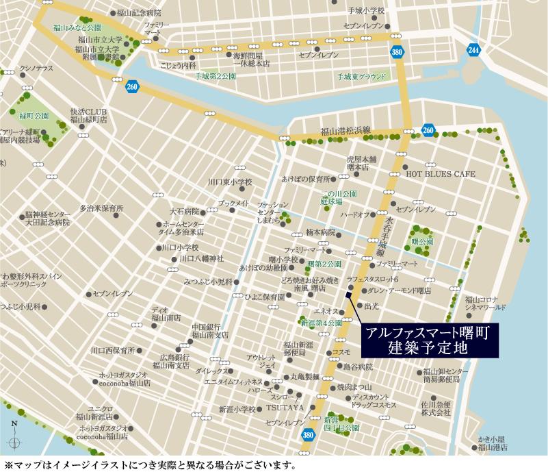 アルファスマート曙町:案内図