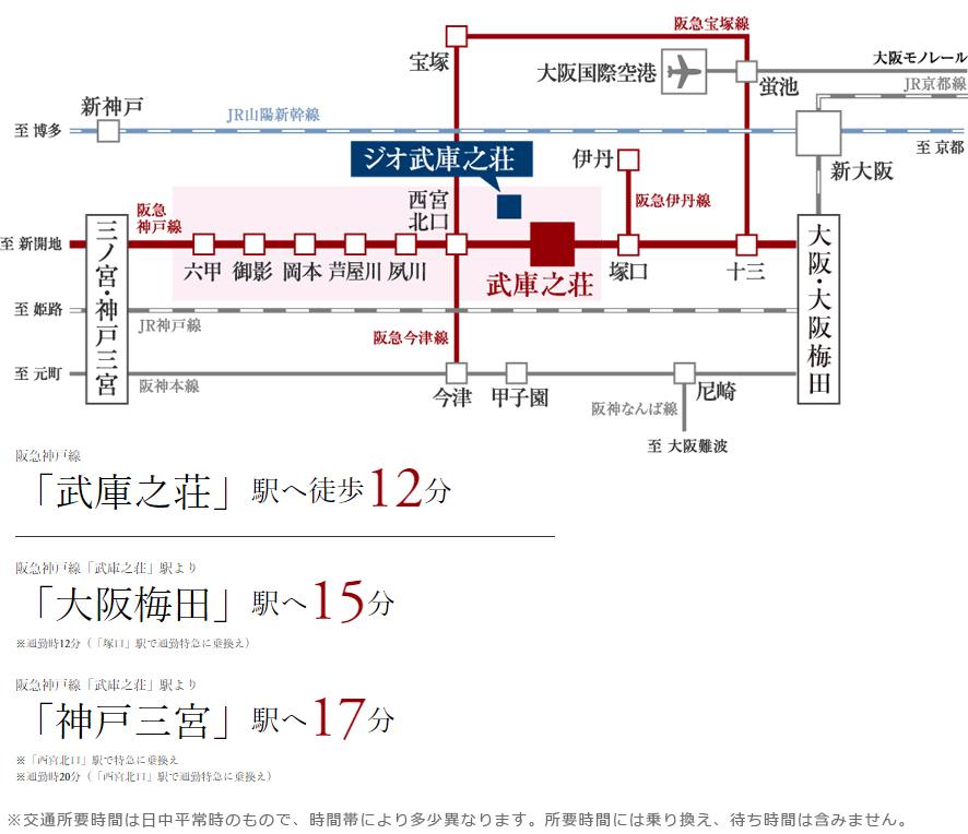 ジオ武庫之荘:交通図